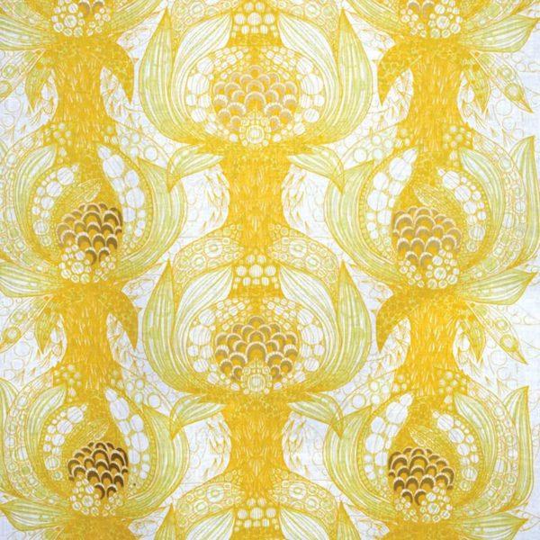 Mairo mönster Havstulpan gul