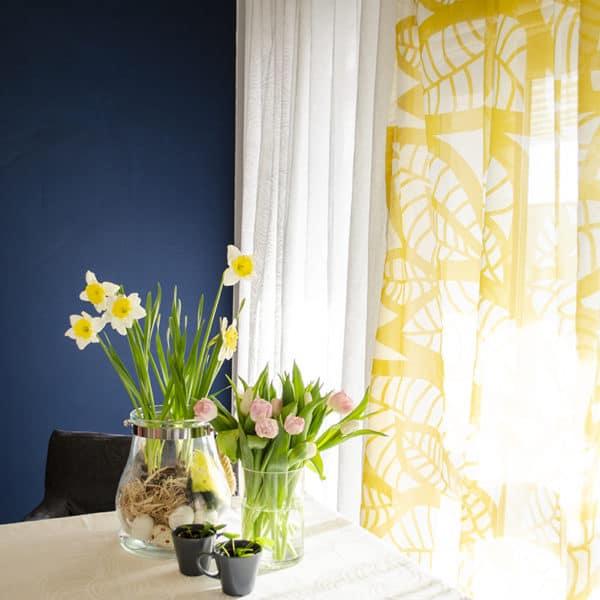 Mairo Gardinlängd mönster Hosta gul