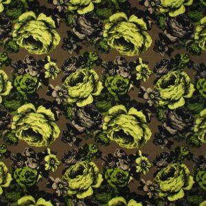 Tyg Baronessa brun/grön