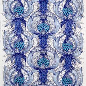 Gardinsömnad Havstulpan blå