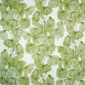 Tyg Palma vit/grön