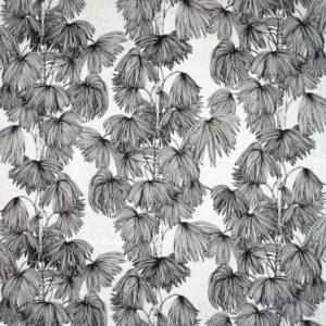 Tyg Palma vit/svart