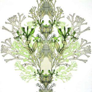 Tyg Myrten grön