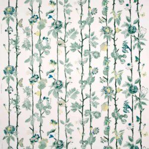 Gardinsömnad Flowerwall Aqua