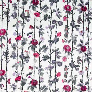 Tyg Flowerwall hallon