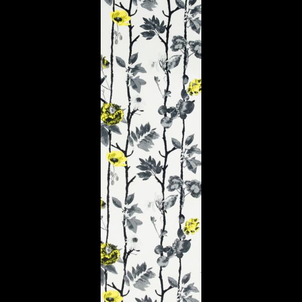 Löpare Flowerwall gul