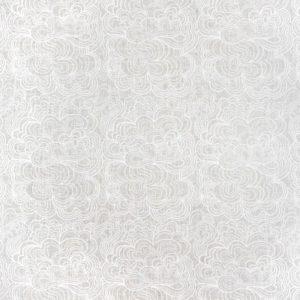 Oljeduk Blomma vit/vit