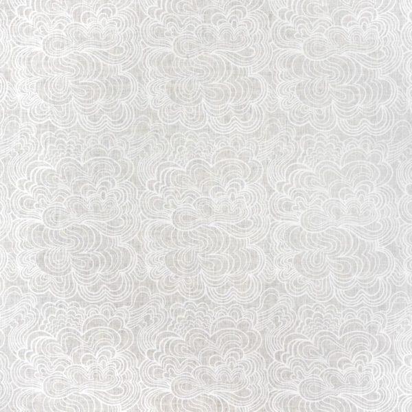 Duk Blomma vit/vit