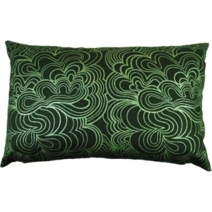 Blomma Cushion cover 45x70 green