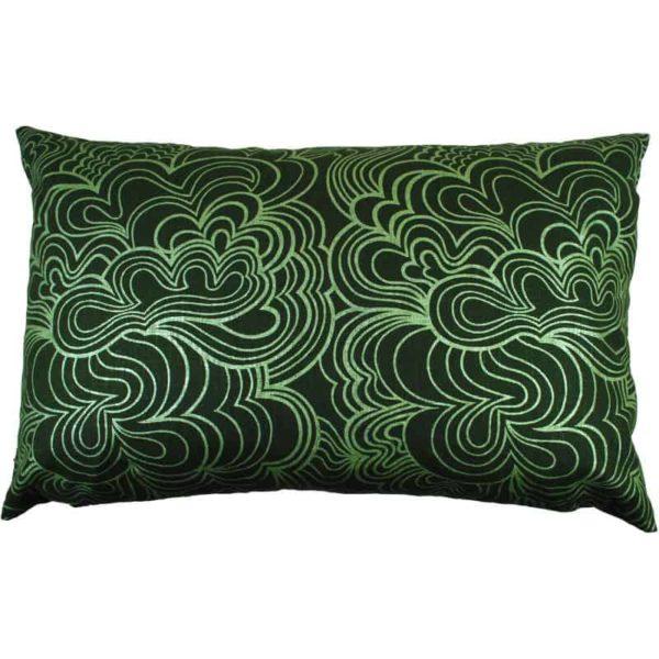 Kuddfodral Blomma 45x70 Grön