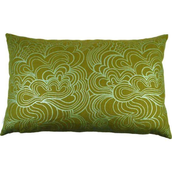 Kuddfodral Blomma 45x70 Ljusgrön