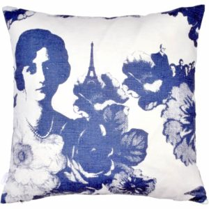 Mademoiselle Cushion cover 48x48 blue