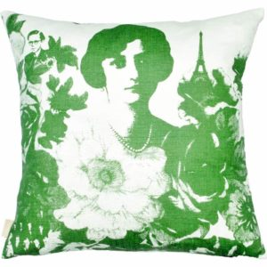 Mademoiselle Cushion cover 48x48 green