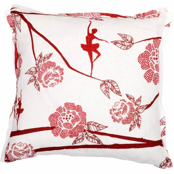 Ballerina Cushion cover 48x48 red