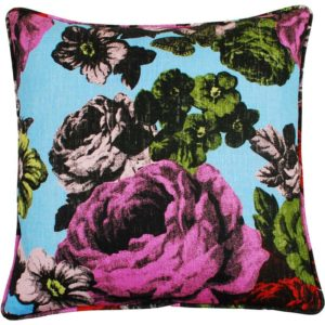 Baronessa Cushion cover 48x48 blue/raspberry