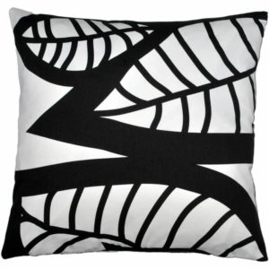 Hosta Cushion cover 48x48 black