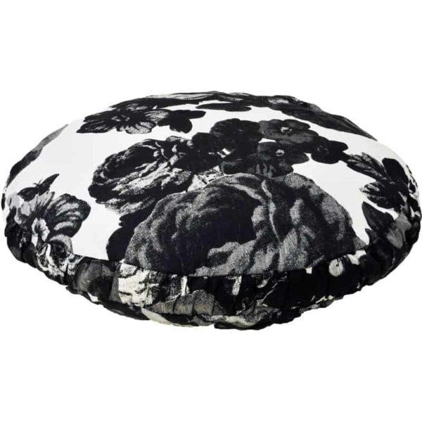 Kuddfodral Baronessa svart/vit