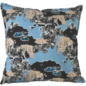 Kung Bore Cushion cover 48x48 blue