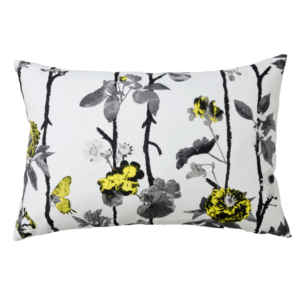 Cushion cover Flowerwall 45x70 Yellow
