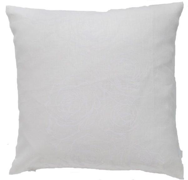 Mairo kudde mönster Rosenslinga vit-vit