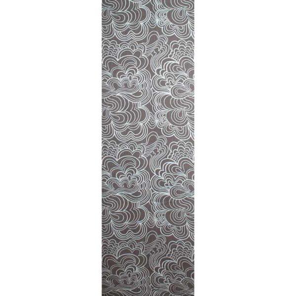 Panel Blomma grå