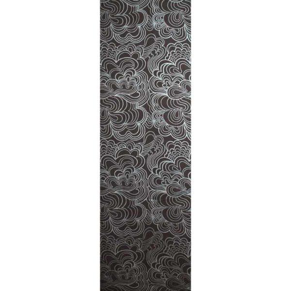Panel Blomma svart
