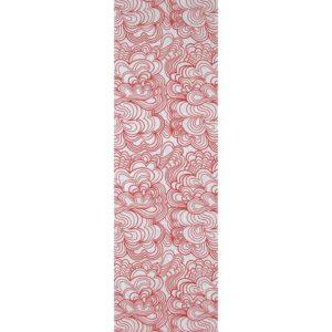Panel Blomma vit/röd