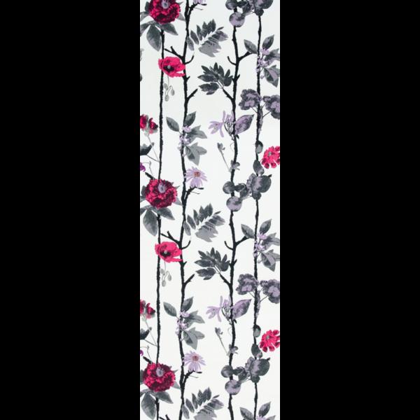 Löpare Flowerwall hallon