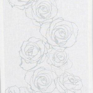 Mairo panel mönster Rosenslinga vit-silver