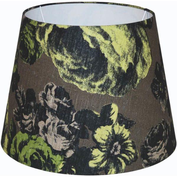 Lampskärm Baronessa brun/grön