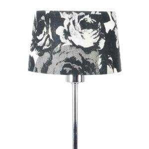Lampskärm Baronessa svart/vit
