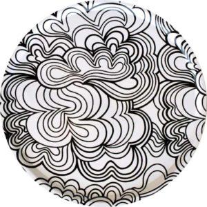 Bricka Blomma 65 cm