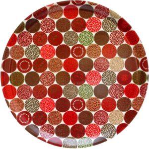 Bricka Strössel röd 38 cm