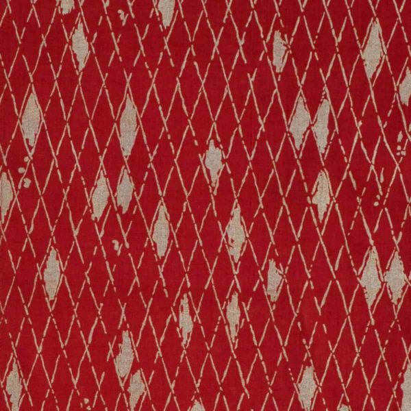 Boheme fabric red/gold