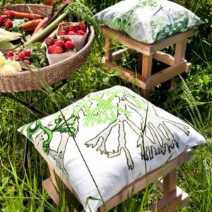 Myrten Cushion cover 48x48 green