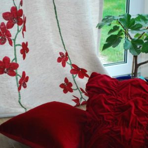 Gardinlängd Orchidé