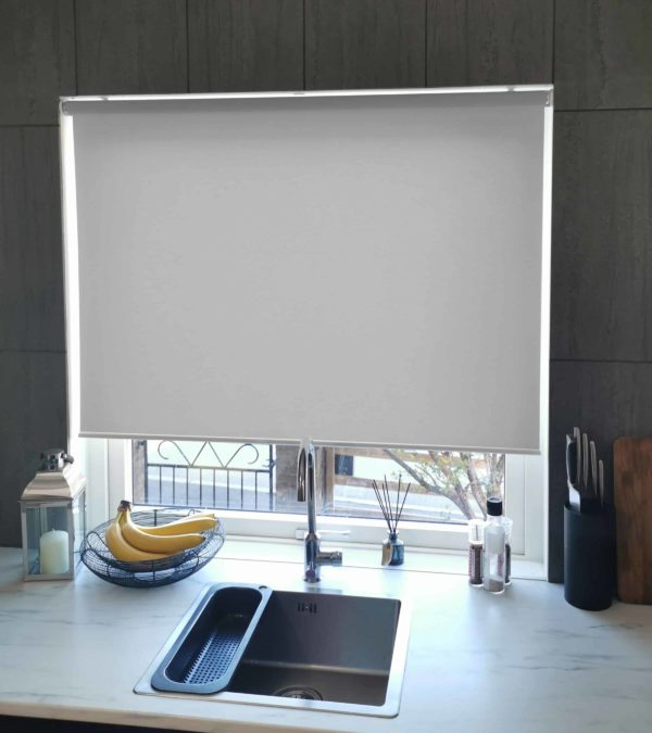Mairo rullgardin Semi-Transparent ljusgrå