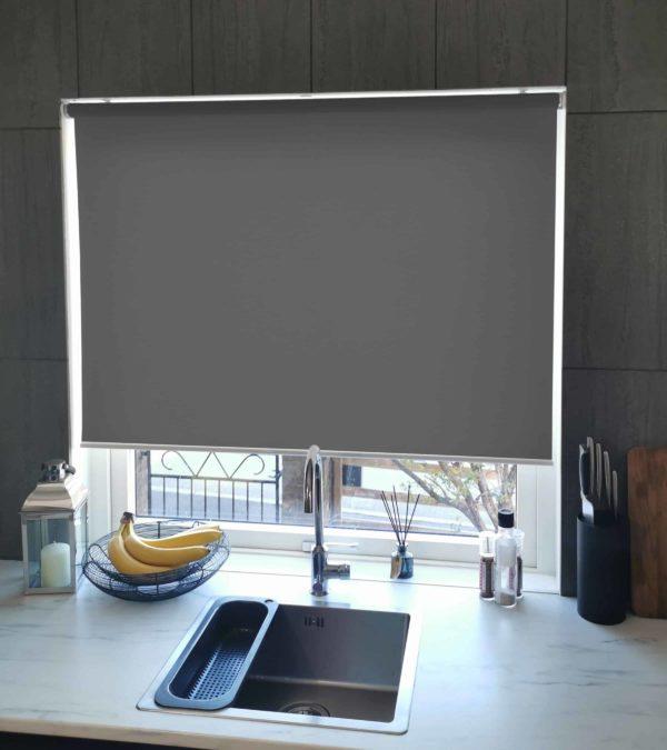 Mairo rullgardin Semi-Transparent mörkgrå