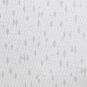 Mairo gardinsömnad mönster Boheme vit silver