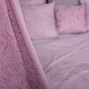 Mairo bäddset mönster Rosenslinga ljusrosa rosa