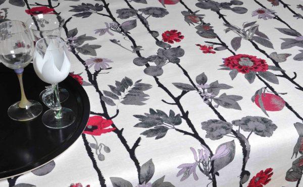 Mairo mönster Flowerwall Rasberry designer Tess Jacobson
