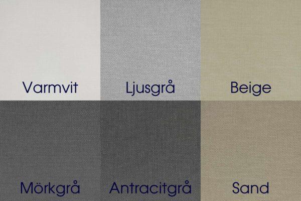 Mairo rullgardin väv Granit färgkarta